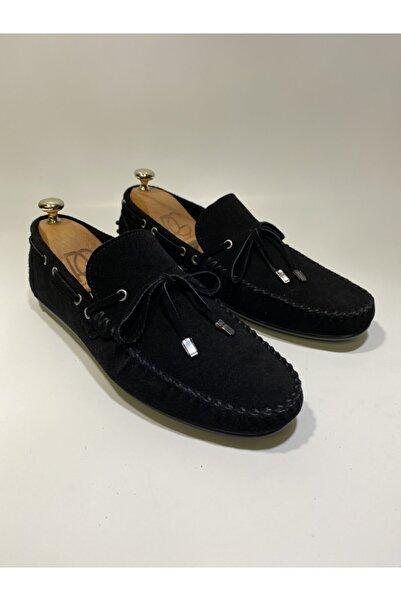 Treyler Ayakkabı Erkek Siyah Hakiki Deri Loafer Ayakkabı