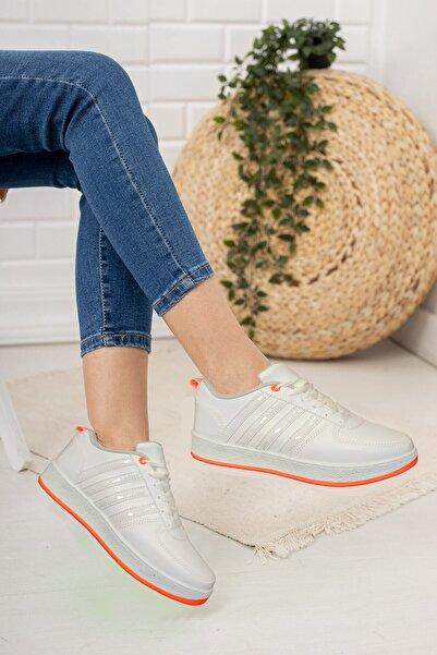 TangModa Unisex Turuncu Sneaker Spor Ayakkabı