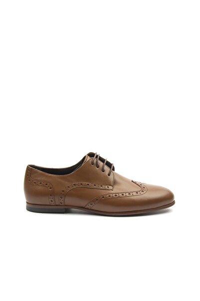 TOGO Kadın Taba Bağcıklı Klasik Ayakkabı