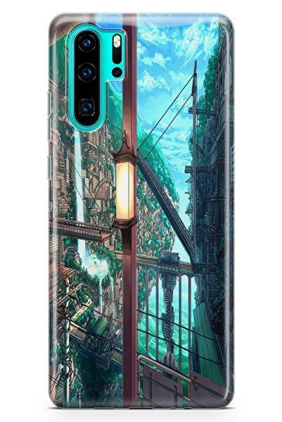 Melefoni Huawei P30 Pro Uyumlu Ciudad Serisi Uv Baskılı Silikon Kılıf