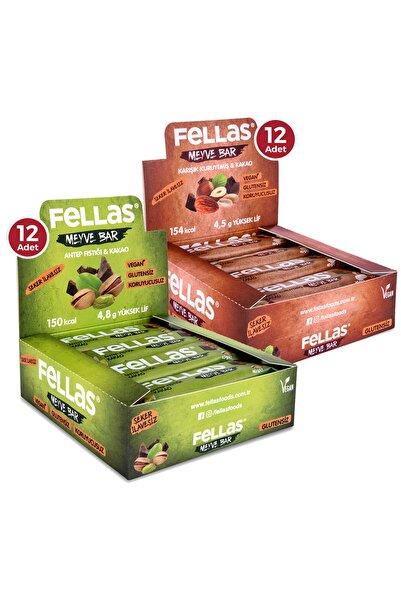 Fellas Meyve Bar 40 G Süper Ikili Kutu 24 Adet - Antep Fıstıklı X 12 Adet + Karışık Kuruyemişli X 12 Adet
