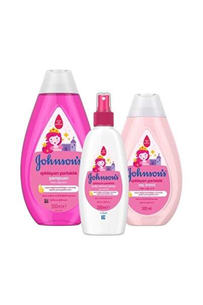 Johnson´s Baby Johnson's Baby Işıldayan Parlaklık Şampuan 500 ml + Saç Kremi 300 ml + Sprey 200 ml