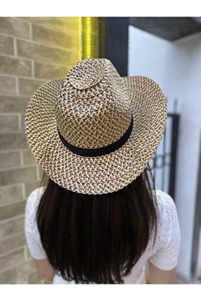 Summer Hot Kadın Kahverengi Hasır Kovboy Şapka