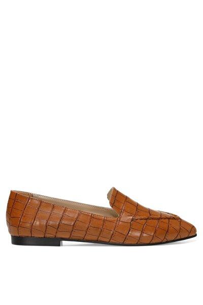 Nine West SIMPA 1FX Taba Kadın Loafer Ayakkabı 101011721
