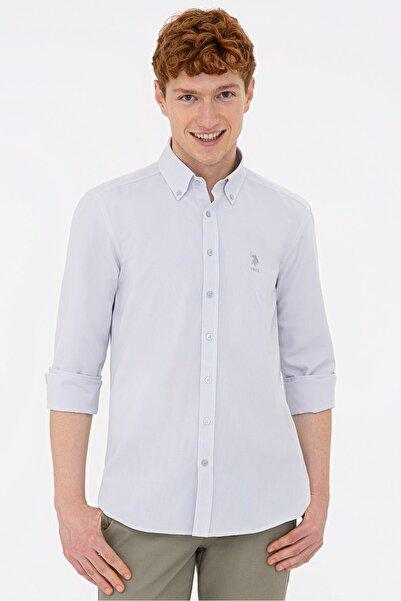 U.S. Polo Assn. Grı Erkek Gömlek