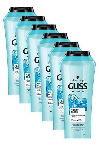 Gliss Gliss Million Gloss Yoğun Parlaklık Veren Şampuan 500 ml 6'lı