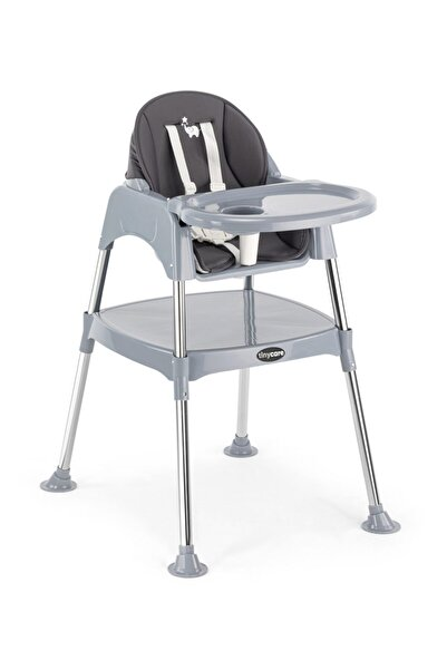 TinyCare Krom Çalışma Masalı Kılıflı Portatif Mama Sandalyesi