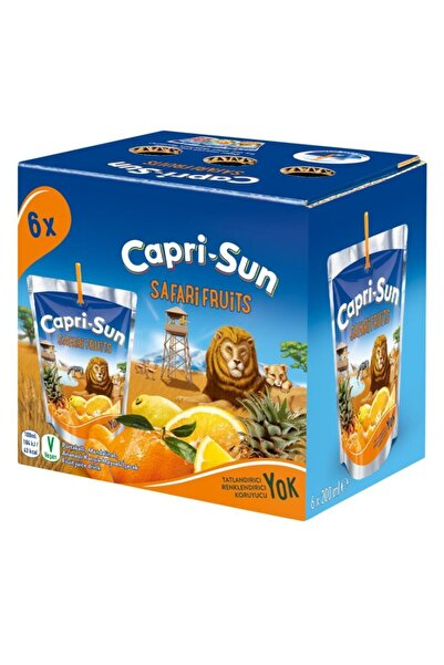 Capri - Sun Safari Fruits 200 ml X 6 Adet