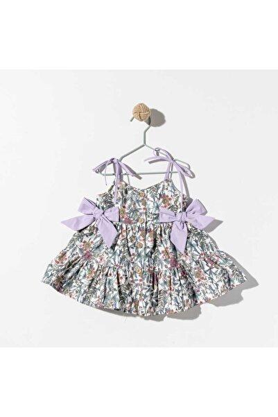 Le Mabelle Kız Çocuk  Lila Fiyonklu Elbise