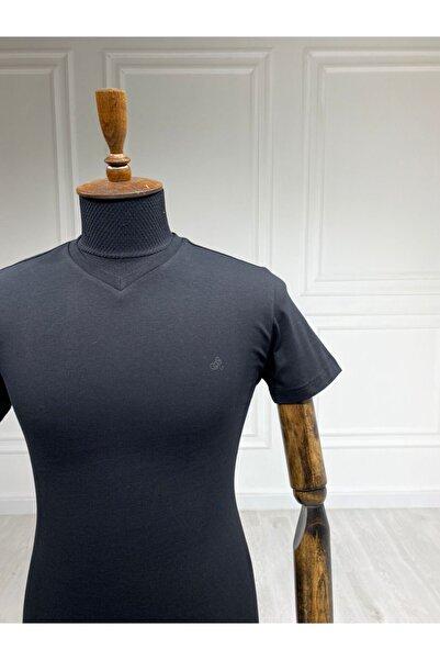 Sarar Basic V Yaka Siyah T-shirt