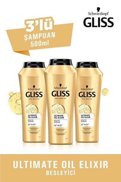 Gliss Ultimate Oil Elixir Besleyici Şampuan 500 ml 3'l��