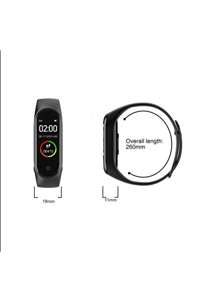 Shotex Xiaomi Mi Max Cep Telefonu Uyumlu Akıllı Bileklik M4 Dijital Saat