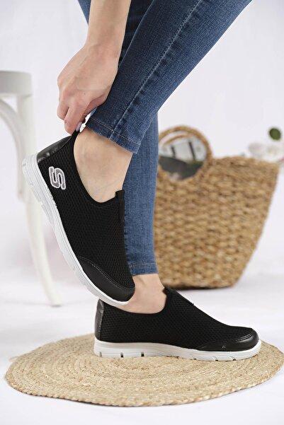 Oksit Lance Cilt Detaylı Fileli Kalın Taban Kadın Sneaker