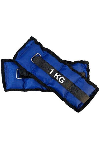 Jet El Ve Ayak Bilek Ağırlığı 2x1 Kg Kum Torbası Korsesi Ağırlık Kas Güçlendirmek Pilates 1kg Mavi Set