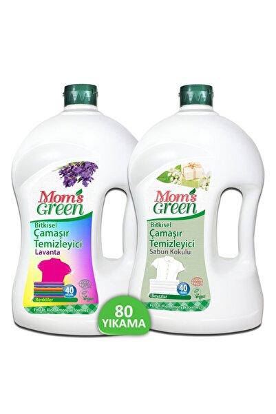 Mom's Green Bitkisel Çamaşır Temizleyici Renkliler 2 lt + Beyazlar İçin 2 lt Ecocert 2'li Set