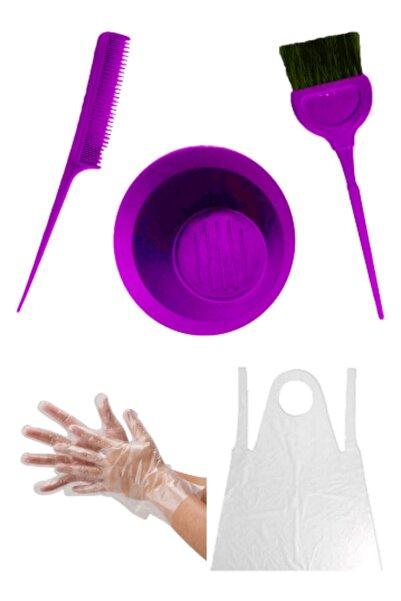 MAQYA KOZMETİK Maqya Saç Boyama Seti & Saç Boya Fırçası+krepe Tarağı+boya Kabı+eldiven+önlük & Hair Coloring Set