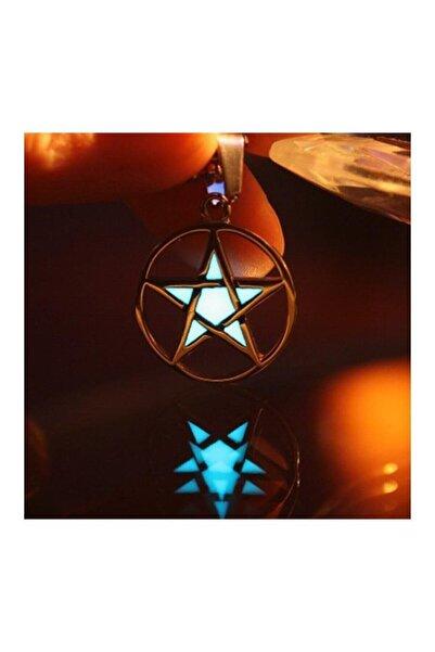 Köstebek Karanlıkta Parlayan Pentagram Kolye
