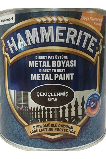 Marshall Hammerite Direkt Pas Üstü Çekiçlenmiş Metal Boyası Siyah 2.5 Lt