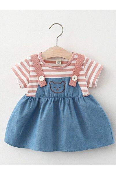 Miny Miny Kids Kız Bebek Ayıcık Detaylı Kot Elbise
