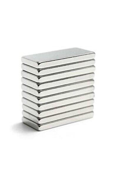 20 Adet 20x10x2 Süper Güçlü Neodyum Mıknatıs Magnet (20'li Paket)