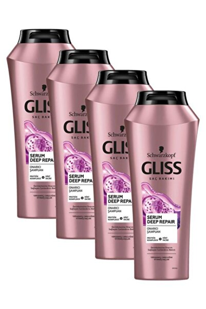 Gliss Serum Deep Repair Onarıcı Şampuan 500 ML 4'lü