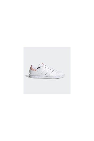 adidas Kız Çocuk Beyaz Adidas STAN SMITH J Spor Sneaker