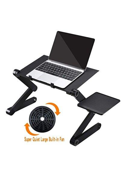 Egonex Laptop Standı Katlanabilir Laptop Yükseltici Fanlı Notebook Yükseltici Laptop Altığı