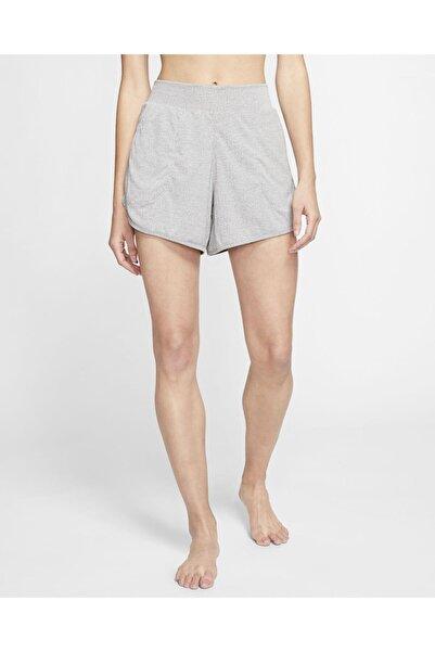 Nike Unisex Yoga Women's Ribbed Shorts Cq8838-010