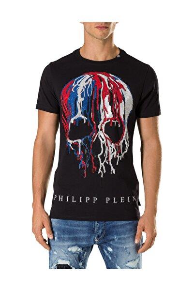 PHILIPP PLEIN Erkek T-shırt Siyah - Medıum Beden