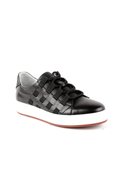 Libero Kadın Siyah  Deri Ayakkabı