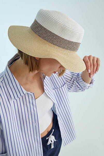 DeFacto Şerit Detaylı Hasır Şapka