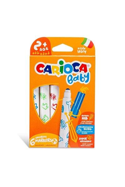 CARIOCA Jumbo Bebek Süper Yıkanabilir Keçeli Boya Kalemi 6'lı