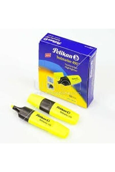 Pelikan Sarı 490 Fosforlu Kalem İşaret Kalemi 1-5 mm 10'lu Kutu