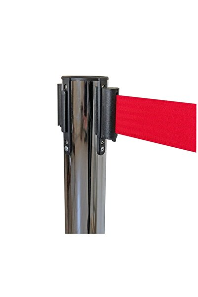 Guard Spirit Özel Fren Sistemli Tekli  Kırmızı Kromajlı Yönlendirme Şerit Bariyer