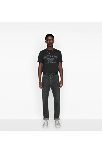 Fendy Erkek Siyah Bisiklet Yaka Tshirt
