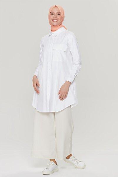 Armine Beyaz Tunik 21yd4380