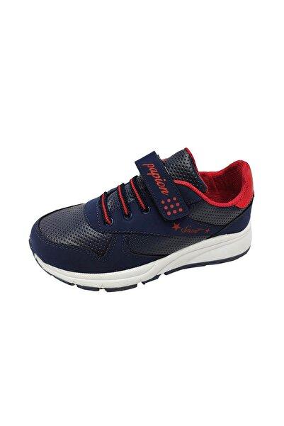 Papion Çocuk Siyah 105 Sneakers Fashion Filet Spor Ayakkabı