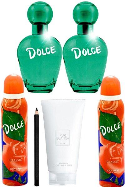 Dolce Classic Edt 100 ml Kadın Parfüm Seti + Deo 150 ml+ Pur Blanca Losyon + Kalem Set 2405210002