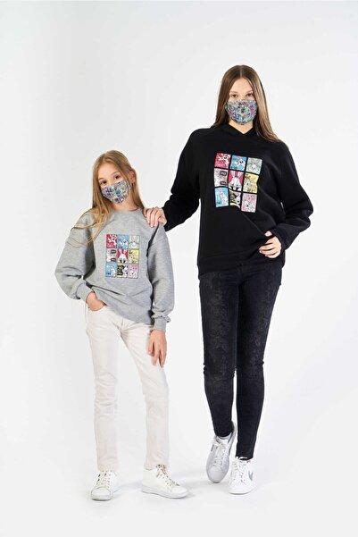 FINGER PRINT Kız Çocuk Genç Gri Tom Ve Jerry Baskılı Gri Sweatshirt