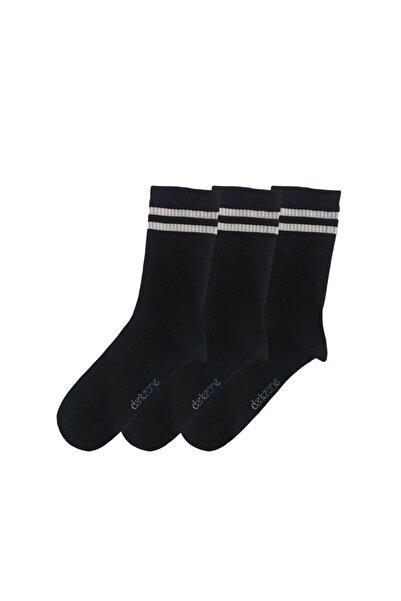 Darkzone Unisex Siyah Uzun Tenis Çorabı 3'lü