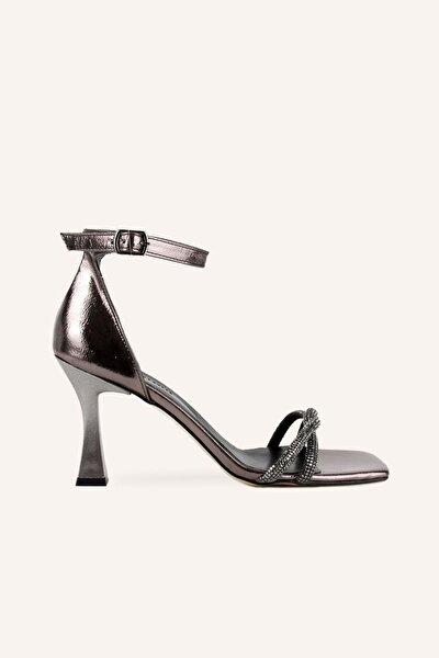 MARCATELLI Antrasit Topuklu Sandalet
