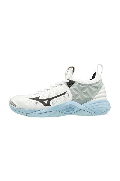 MIZUNO Wave Momentum Unisex Voleybol Ayakkabısı Beyaz/gri