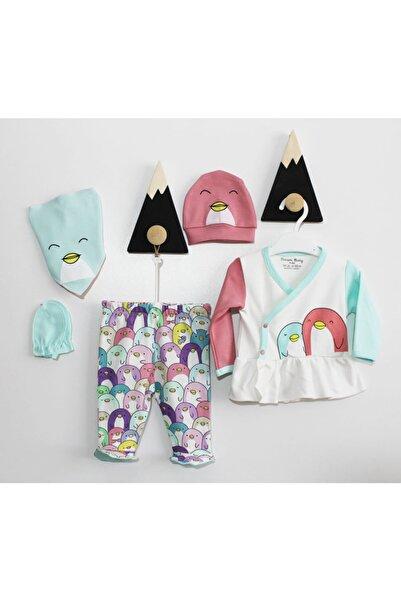 Dreambaby Kız Bebek Penguen Desenli 5'li Zıbın Set