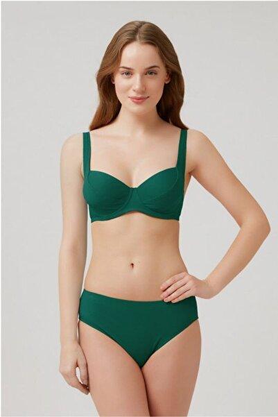 Kom Uzun Ömürlü Kendinden Dokulu Klasik Fabıan Bikini