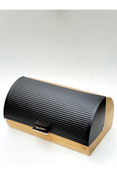 AROW Bambu Siyah Lüx Ekmeklik Metal Raylı Sistem Kapaklı