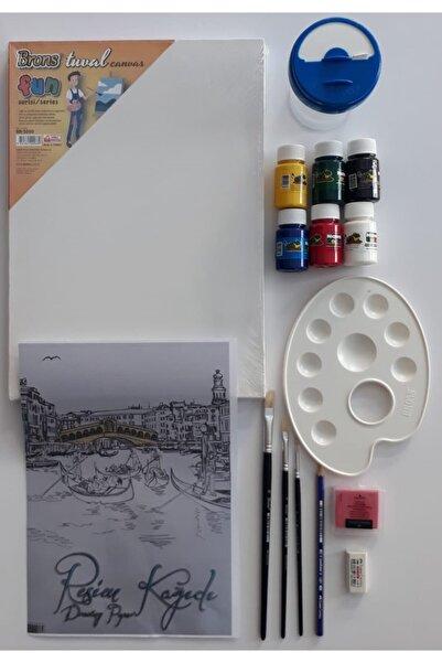Brons Akrilik Boya Resim Yapma Ve Başlama Seti 1