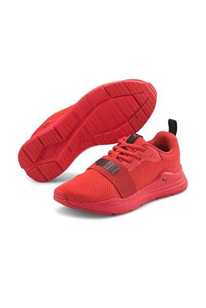 Puma WIRED RUN JR Kırmızı Kadın Koşu Ayakkabısı 101085362