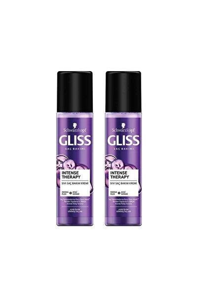 Gliss Intense Therapy Yeniden Yapılandırıcı Durulanmayan Sıvı Saç Kremi 200 ml 2'li