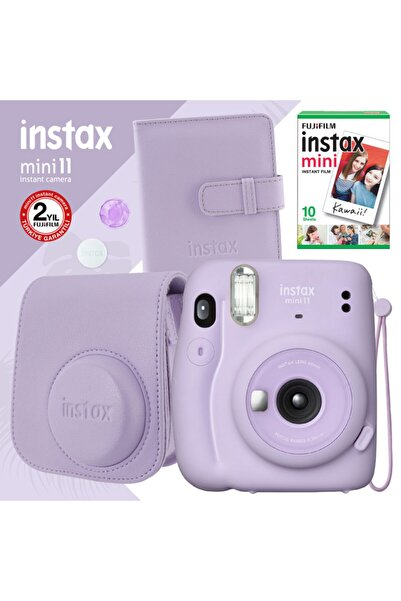 Fujifilm Instax Mini 11 Lila Fotoğraf Makinesi Ve Kare Albümlü Seti
