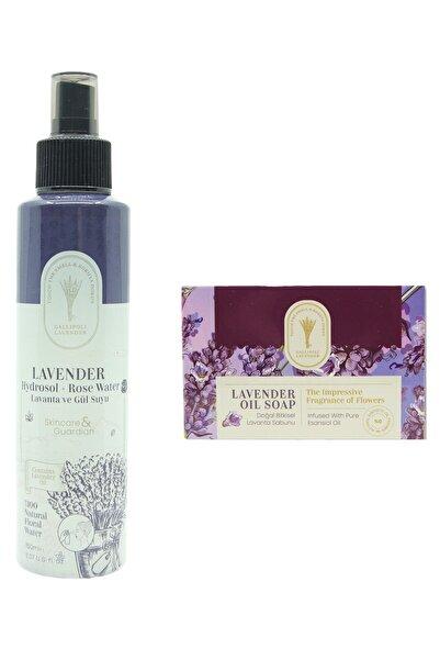 Dr. Lavender Gül Suyu Lavanta Suyu Gözenek Sıkılaştırıcı %100 Doğal Hidrosol + Lavanta Cilt Sabunu Akne Karşıtı